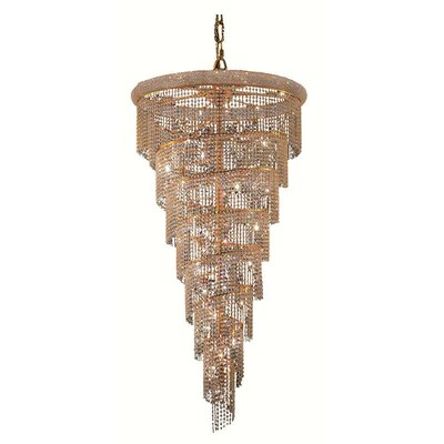 Spiral 32-Light Crystal Pendant Finish: Chrome, Crystal Trim: Strass Swarovski