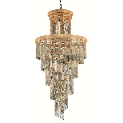 Mathilde 41-Light Crystal Pendant Finish: Gold, Crystal Trim: Strass Swarovski