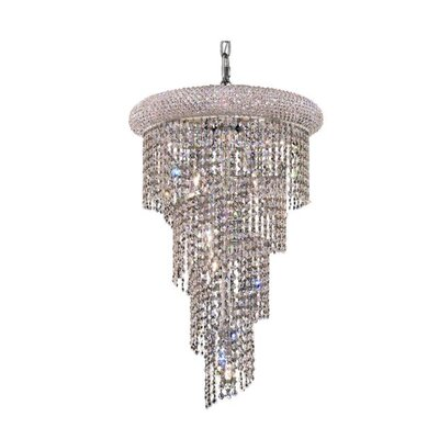 Mathilde 8-Light Cascade Pendant Finish: Chrome, Crystal Trim: Elegant Cut