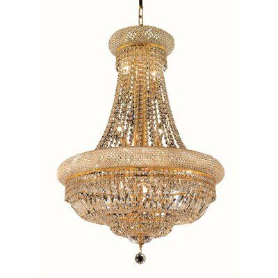 Primo 14-Light Empire Chandelier Size / Finish / Crystal Trim: 28 / Chrome / Elegant Cut