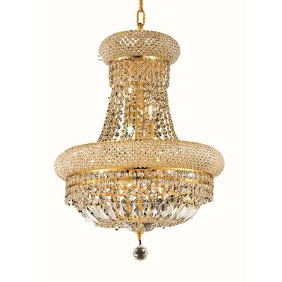Primo 8-Light Empire Chandelier Finish: Gold, Crystal Trim: Strass Swarovski