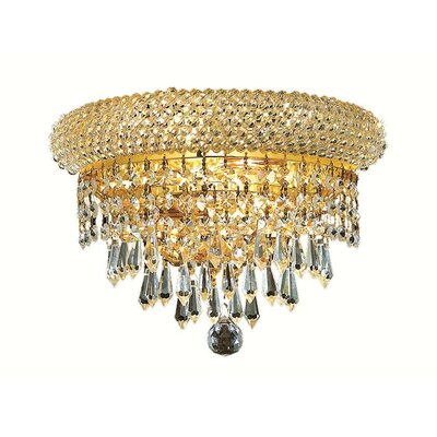 Primo 2-Light Wall Sconce Finish: Gold, Crystal Trim: Strass Swarovski