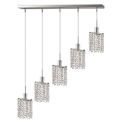 Polina 5-Light Pendant Crystal Color / Crystal Trim: Topaz (Brown) / Royal Cut