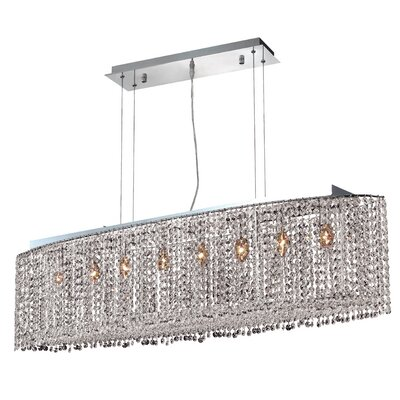 Troas 8-Light Crystal Pendant Crystal Color / Crystal Trim: Crystal (Clear) / Strass Swarovski