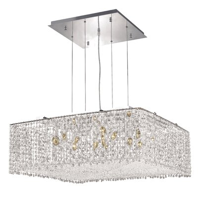 Troas 13-Light Crystal Pendant Crystal Color / Crystal Trim: Crystal (Clear) / Royal Cut