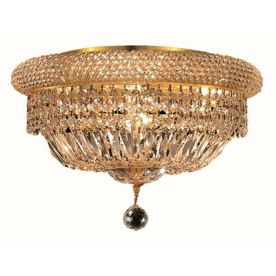 Jessenia 8-Light Flush Mount Finish: Gold, Crystal Grade: Royal Cut