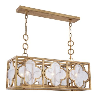 Angelo 6-Light Kitchen Island Pendant Finish: Golden Iron