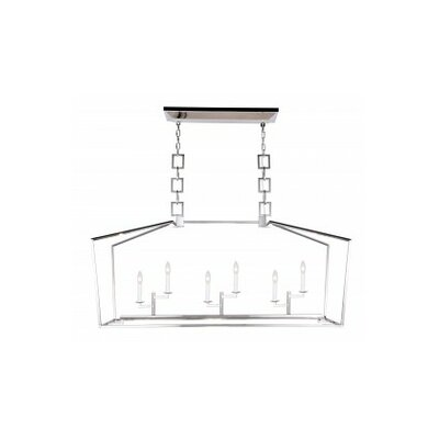 Isoline 6-Light Candle-Style Chandelier Finish: Polished Nickel