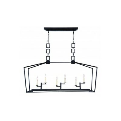 Isoline 6-Light Candle-Style Chandelier Finish: Vintage Bronze