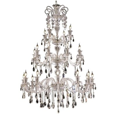 Baxley 24-Light Crystal Chandelier Finish: Chrome, Crystal Trim: Spectra Swarovski
