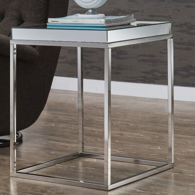 Emerita Wood Top End Table