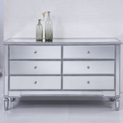 Contempo 6 Drawer Double Dresser