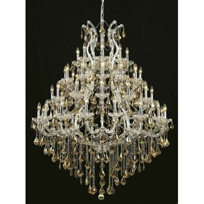 Regina 49-Light Up Lighting Crystal Chandelier Finish / Crystal Color / Crystal Trim: Gold / Golden Teak (Smoky) / Royal Cut