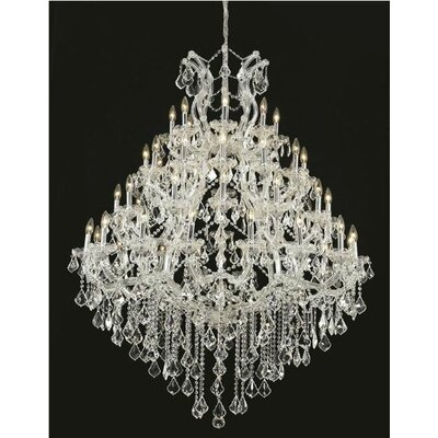 Maria Theresa 49-Light Crystal Chandelier Finish / Crystal Color / Crystal Trim: Chrome / Crystal (Clear) / Royal Cut