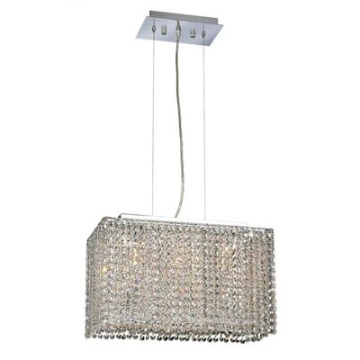 Moda 3-Light Pendant Crystal Color / Crystal Trim: Crystal (Clear) / Royal Cut
