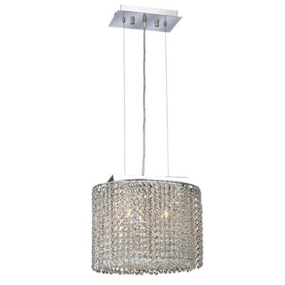 Moda 2-Light Kitchen Island Pendant Crystal Color / Crystal Trim: Crystal (Clear) / Spectra Swarovski