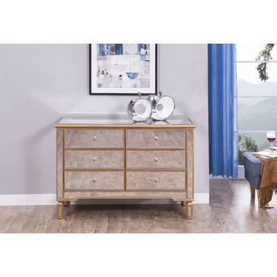 Emerita Modern 6 Drawer Double Dresser
