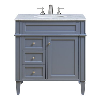 Park Ave 32 Single Bathroom Vanity Set Base Finish: Gray
