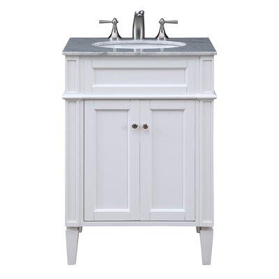 Park Ave 24 Single Bathroom Vanity Set Base Finish: White