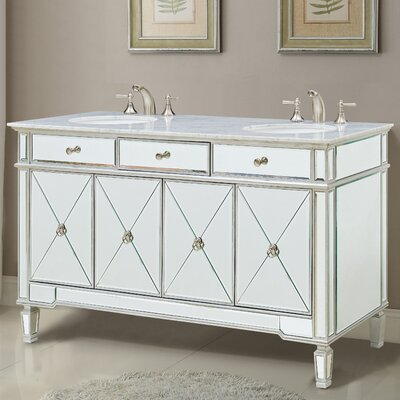 Jiya 60 Double Bathroom Vanity Set