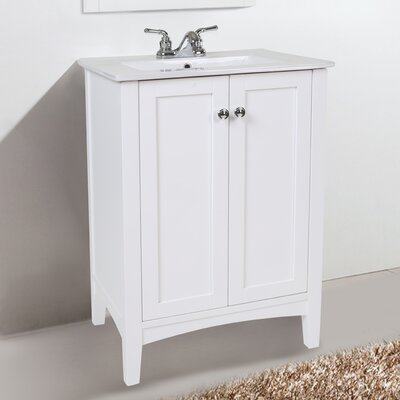 Miltonsburg 24 Single Bathroom Vanity Set Base Finish: White