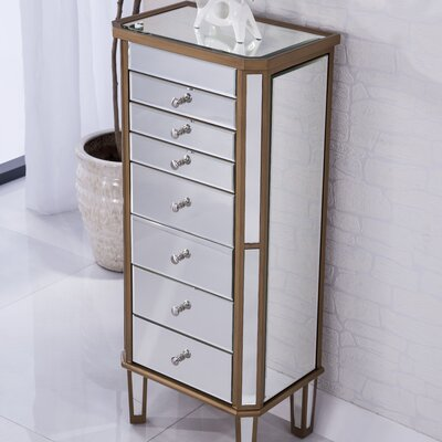 Contempo Free Standing Jewelry Armoire with Mirror
