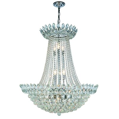 Glendora 17-Light Empire Chandelier Finish: Chrome