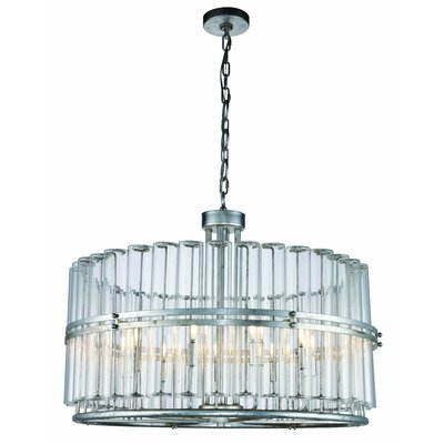 Tiemann 9-Light LED Foyer Pendant Finish: Antique Silver Leaf