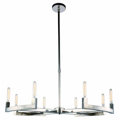 Donnell 8-Light LED Candle-Style Chandelier Finish: Polished Nickel