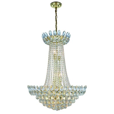 Glendora 13-Light Empire Chandelier Finish: Gold