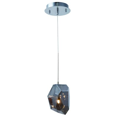 Cooley 1-Light Mini Pendant Shade Color: Silver