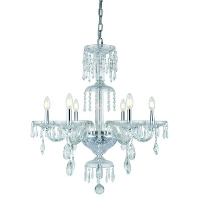 Deeanna 6-Light Candle-Style Chandelier