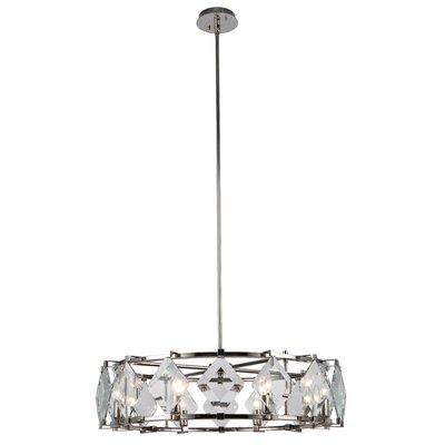 Everalda�8-Light Drum Pendant Finish: Polished Nickel