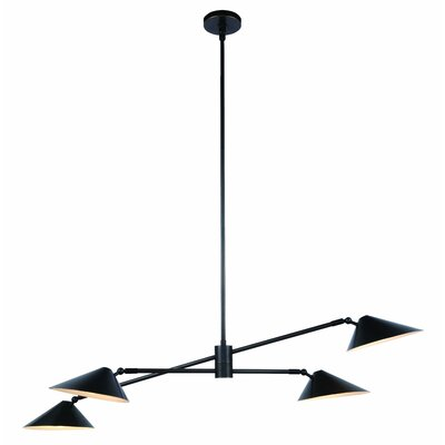 Berkley 4-Light Pool Table Light Finish: Bronze