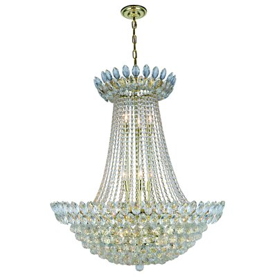Glendora 17-Light Empire Chandelier Finish: Gold