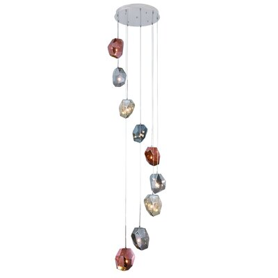 Cooley 9-Light LED Cascade Pendant