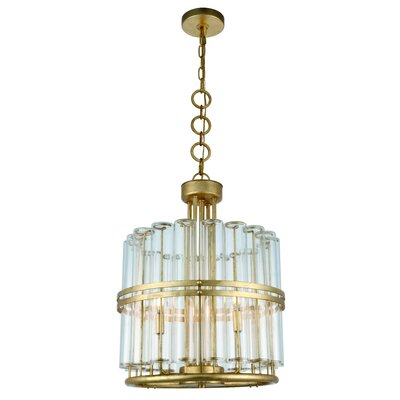 Tiemann 3-Light LED Foyer Pendant Color: Antique Gold Leaf