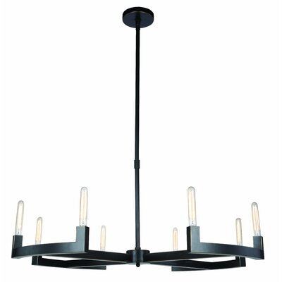 Donnell 8-Light LED Candle-Style Chandelier Finish: Bronze