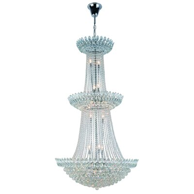 Glendora 27-Light Empire Chandelier Finish: Chrome