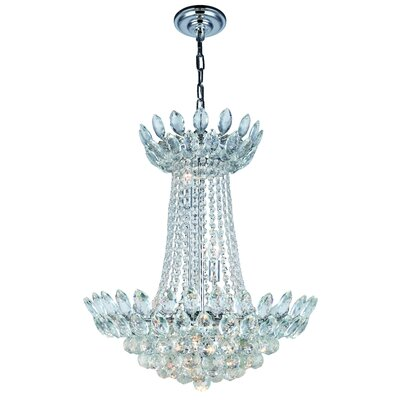 Glendora 10-Light Empire Chandelier Finish: Chrome