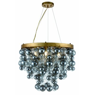 Stansberry 7-Light LED Crystal Pendant Finish: Antique Gold Leaf, Size: 82 H x 32 W x 32 D