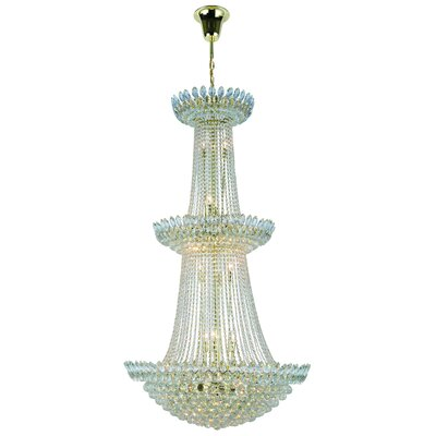Vesper 27-Light Empire Chandelier Finish: Gold