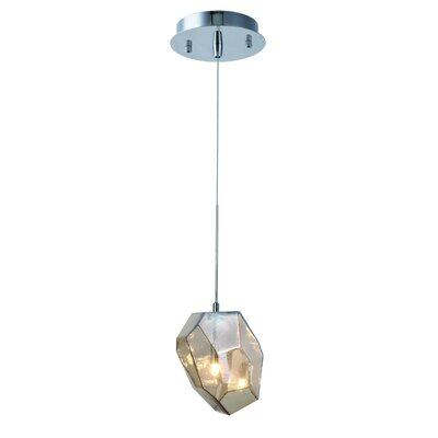 Gibeon 1-Light Mini Pendant Shade Color: Golden Teak