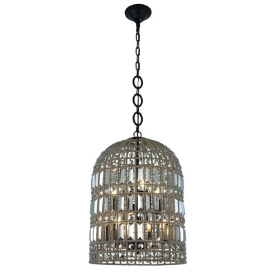Hayley 6-Light LED Foyer Pendant Finish: Rustic Dark Bronze