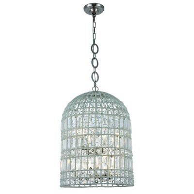 Hayley 6-Light LED Foyer Pendant Finish: Polished Nickel