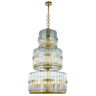 Tiemann 18-Light Drum Chandelier Finish: Antique Gold Leaf