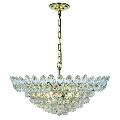 Glendora 11-Light LED Bowl Pendant Finish: Gold