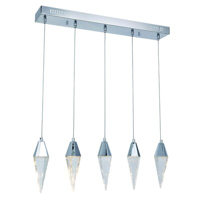 Mahpee 5-Light LED Kitchen Island Pendant