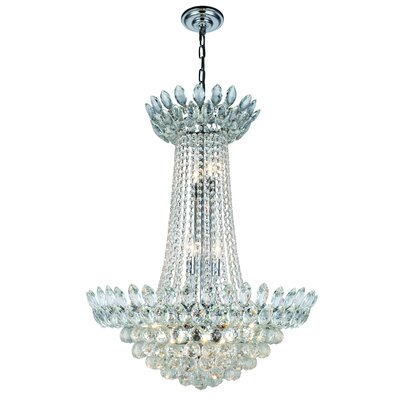 Glendora 13-Light Empire Chandelier Finish: Chrome