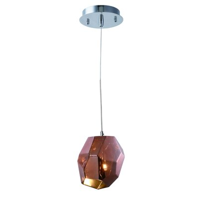 Cooley 1-Light Mini Pendant Shade Color: Copper